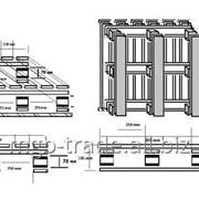 Однонастильный четырех заходной деревянный поддон. фото