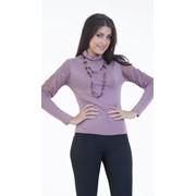 Трикотажная блуза с длинным рукавом фото