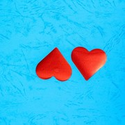 Конфетти фигурное Сердце (d 4 см), цвет красный фото