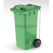 Контейнер для мусора 120 л с крышкой и педалью фото