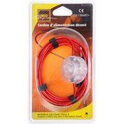 Электрический шнур Decovision, 2х0,75мм2, 3 м., выключатель, дизайн Rouge Metal (Красный металл)