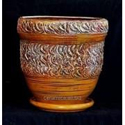 """Горшок для цветов из керамики ручной работы """"Велетень"""" фото"""