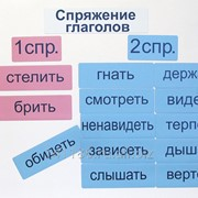 Набор магнитных карточек Спряжение глаголов, артикул 2057 фото