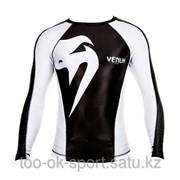 Рашгард Venum Giant rashguard Long sleeves BK/WH фото