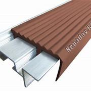 Алюминиевый закладной профиль SafeStep с двумя закладными элементами фото