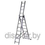 Трехсекционная лестница 8 ступеней 7608 фото
