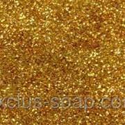 Золотой глиттер-5 грамм-0,2 мм фото