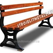 Кованая скамейка Z-07 фото