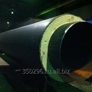 Трубы стальные в изоляции из пенополиуретана ППУ ПЭ фото