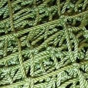 Дель капроновая узловая, ячея 36 мм, нить 93,5текс*3 усл. диаметр 0,80мм; h=18,3 м, длина 85 м, зелёная 18-19 кг