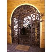 Металлические кованые двери и ворота фото
