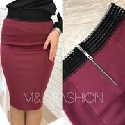 Женская трикотажная юбка-карандаш, в расцветках фото