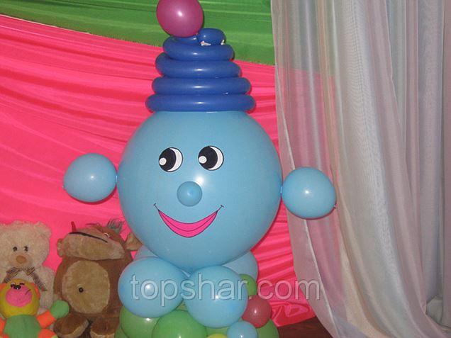 Как сделать капитошку из шариков