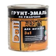Грунт-эмали по ржавчине 3 в 1 гладкие DALI 0,23 литра фото