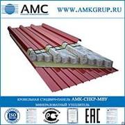 Кровельная сэндвич-панель МВУ 30 мм АМК-СПКР-МВУ фото