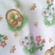 Ткань постельная Фланель 175 гр/м2 150 см Набивная/детская ежики на белом/S501 VST фото