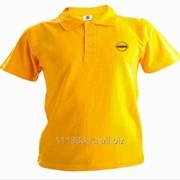 Рубашка поло Nissan желтая вышивка золото фото