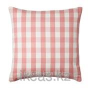 Чехол на подушку, белый, розовый СМОНАТЕ фото