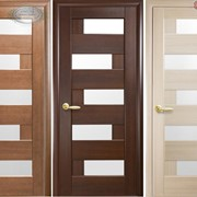 Дверь из бруса Новый стиль Пиана каштан фото