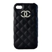 Крышка iPhone 4G Chanel черная прошитая фото