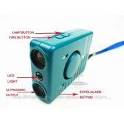 Ультразвуковой отпугиватель/ТЕЛОХРАНИТЕЛЬ собак с фонариком, сигнализацией и зарядным устройством
