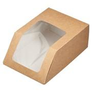 Упаковка для роллов 130*90*50 мм, крафт (500шт/уп) фото