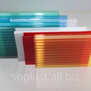 Сотовый поликарбонат, цветной, толщиной 4 мм, вес 0.60 кг/м2, размер 2100*6000 фото