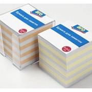 Бумага ARO для записи цветная в пластике, 9*9*9см фото