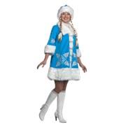 Новогодний костюм для взрослых Снегурочка вышивка фото