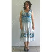 Платье-сарафан Матекс Афины. Цвет: белый, голубой фото
