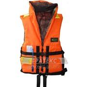 Жилет спасательный ПР двусторонний, цв. оранжевый/лес фото