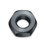 Гайка шестигранная, 10, черная фото