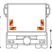Задние опознавательные знаки для грузовых машин фото