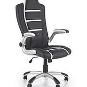 Кресло компьютерное Halmar FAST (черный/белый) фото