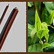 Свеча восковая №40 коричневая с ароматом чайного дерева фото