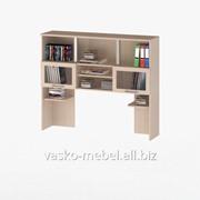 Надстройка для стола, Васко СОЛО-013 Корпус дуб молочный, фасад дуб молочный/стекло фото