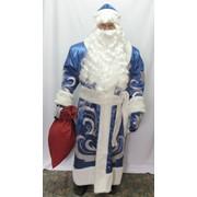 Костюм Дед Мороз Нарядный (атлас, аппликация) с поясом фото