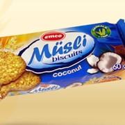 Мюсли печенье овсяное с кокосом фото