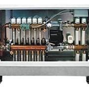 Шкаф регулирования теплого пола 7 отводов левый без термопривода и БК. фото