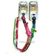 Ошейник ElastoCat Collar Peace розовый фото