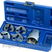Набор для восстановления резьбы на колёсных шпильках DAF / IVECO / MAN / RENAULT / VOLVO / MERCEDES, кейс, 5 предметов МАСТАК 352-00001C фото