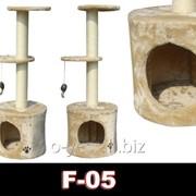 Когтеточка домик игровой комплекс для кота дряпка F-05 фото