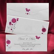 Яркие приглашения на свадьбу, приглашение на свадьбу (арт. 2645) фото