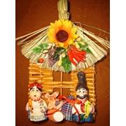 Плетень с большими фигурками, Изделия сувенирные фото