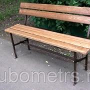 Скамейка металлическая со спинкой 1,5м фото