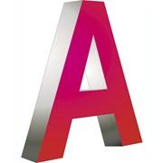 Буквы мелаллические (из нержавеющей стали) фото