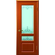 Дверь Валентия-2 Темный анегри остекление Светлое Франческа фото