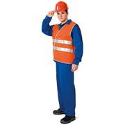 Жилет сигнальный Эконом (флуоресцентный оранжевый) фото