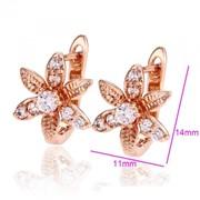 Серьги бриллиантовый цветочек (26927) фото