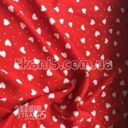 Ткань Штапель принт ( сердечки ) 5064 фото